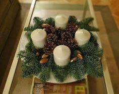 Corona de adviento significado buscar con google - Como hacer centros de navidad con pinas ...