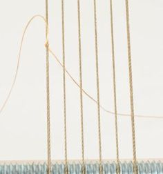Tri-Color Fire Polish Loom Bracelet: Attaching the Weft Thread