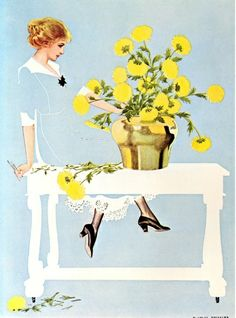 Coles Phillips - Painting for Good Housekeeping cover, (November, 1911) Fadeaway Girl