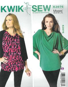 Blouse Sewing Pattern-Misses' Top Pattern by DesignerAlleyFabrics