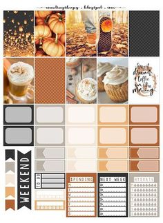Free Printable Pumpkin Spice and Everything Nice Planner Stickers from Counting Sheepy