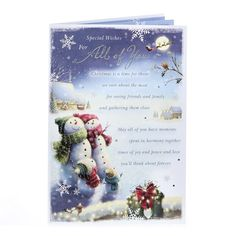 Christmas Card - For All Of You, Snowmen | Card Factory