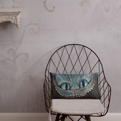 Cheshire Cat Pillow Afternoon Nap, Cat Pillow, Pillow Fight, Cheshire Cat, Hanging Chair, Shapes, Throw Pillows, Cats, Room
