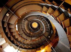 Spiral staircase in a Glasgow Lighthouse