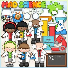 Mad Science - Kristi W. Designs Clip Art & B&W Set