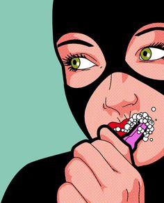 Artista gráfico desenha ícones pop e super-heróis como você nunca viu – Pausa Dramática