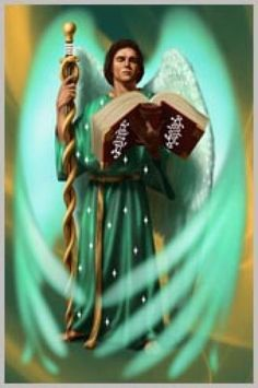Thank you Archangel Raphael for healing every area of my life. Thank you for the abundance that flows into my life. Male Angels, Archangel Prayers, San Rafael, Angel Warrior, I Believe In Angels, Ange Demon, Angels Among Us, Angel Pictures, Angel Cards