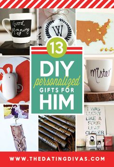 Christmas Gifts - DIY Personalized Gifts for Him from The Dating Divas