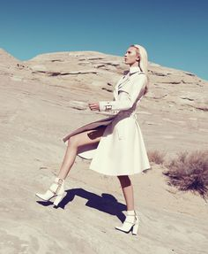 What's White Now Photographer: Paola Kudacki. Fashion Editor: Tony Irvine.     White moves. Opt for sheer or something more covered up. Salvatore Ferragamo coat, $13,000, 800-628-8916. Alexander Wang shoes,  Read more: White Clothing Trend - White Clothing Spring 2013 Fashion Editorial - Harper's BAZAAR