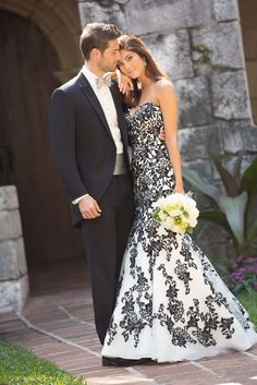 Allure Romance Wedding Dress Style 2767 With Onyx Tuxedo, Ball gown wedding dresses ~ Feenwedding.Com