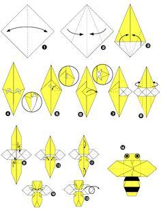 Abeille en origami