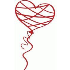 Silhouette Design Store: heart balloon
