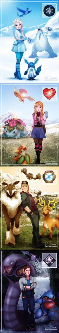 Awesome Pokemon/Frozen pics.