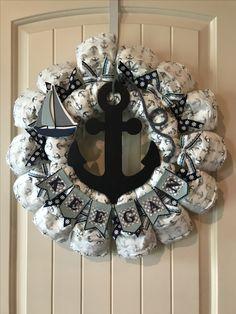 Anchor diaper wreath