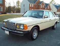 Mercedes Benz W123 300D  1984   Had in black when married.