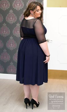 Our plus size Twirl and Swirl Cocktail Dress flatters every curve of our Real…