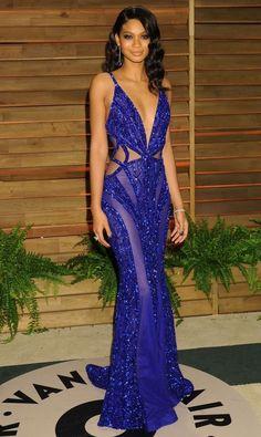 Chanel Iman in Zuhair Murad, Blue Hot Formal Dress Lace Dresses, Elegant Dresses, Sexy Dresses, Fashion Dresses, Short Dresses, Prom Dresses, Chanel Iman, Dress Vestidos, Vestidos Sexy