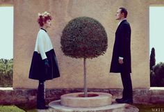 Actor Michael Fassbender and Model Natalia Vodianova Photographed for the May Issue of Vogue