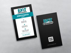 A cool and unique design this vintage style exit realty business this clean and modern vertical exit realty business card template is designed with simplicity in mind colourmoves
