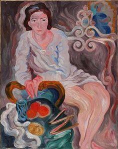 Carlo Levi - Figura di donna con sigaretta in poltrona (Woman with cigarette on a harmchair), c. 1935