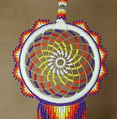 Beaded Dream Catchers Patterns Navajo Beaded Dream Catcher Beautiful dream catcher Navajo made 2