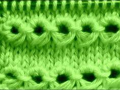 Cómo Tejer Punto Peruano-Broomstick Loop Stitch 2 Agujas (120) - YouTube