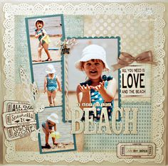A Day at the Beach (Unity Stamp Co.) by Jennifer R - Cards and Paper Crafts at Splitcoaststampers