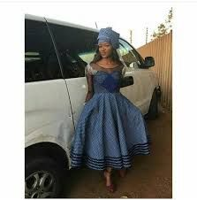 Top shweshwe gowns for The tall and short girl - Reny styles African Print Dress Designs, African Print Dresses, African Dress, African Wear, Setswana Traditional Dresses, South African Traditional Dresses, African Men Fashion, African Fashion Dresses, African Attire