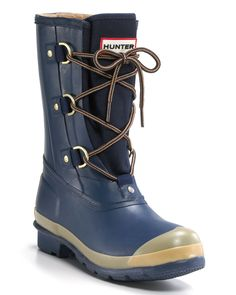 "Hunter ""Sashca"" Rubber Boots $105.00"