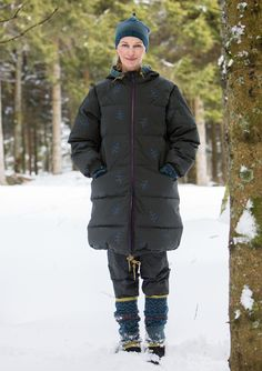 """Green"" down coat in eco-cotton – New arrivals – GUDRUN SJÖDÉN – Webshop, mail order and boutiques 