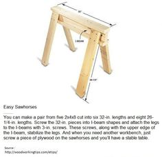 Easy Sawhorses | WoodworkerZ.com