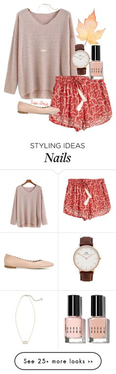 """Hues of Autumn."" by xipiamin on Polyvore featuring Natalie Martin, Bobbi Brown Cosmetics, Daniel Wellington, Kendra Scott and Chloé"