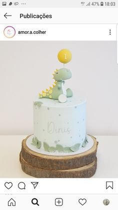 Creative Birthday Cakes, Dinosaur Birthday Cakes, Baby Birthday Cakes, Dino Cake, Kid Desserts, Baby Party, Cake Smash, Birthday Party Decorations, First Birthdays