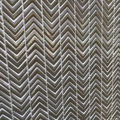 White and gold chevron mosaic tiles