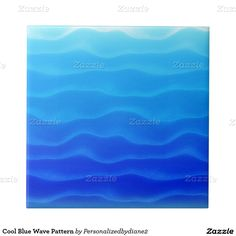 Cool Blue Wave Pattern Small Square Tile