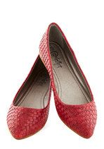 Loom for Improvement Flat in Red | Mod Retro Vintage Flats | ModCloth.com
