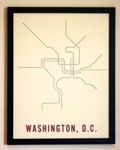 Minimalist Typographic Subway Maps : Fadeout Design