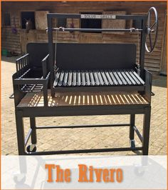 The grill only model, without the Brasero (fire basket), fits into brick. Outdoor Bbq Kitchen, Outdoor Kitchen Design, Outdoor Cooking, Barbecue Design, Grill Design, Asado Grill, Bbq Grill, Argentine Grill, Fire Pit Grill