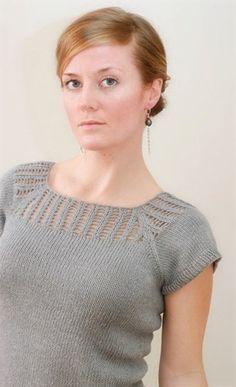 Gemini è una maglietta con scollo traforato per cui la designer ha pubblicato gratuitamente lo schema su Knitty e su Ravelry. E' stata anche gentilissima e mi ha concesso l'autorizazion…