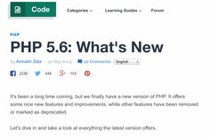 PHP 5.6: What's New