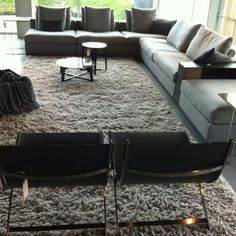 Filasse rug by @CarpetSign in combination with Flexform upholstery (to be seen with Noort Interieur, Katwijk)