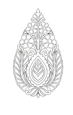 Floral Embroidery Patterns, Hand Embroidery Tutorial, Embroidery Fashion, Hand Embroidery Designs, Ribbon Embroidery, Textile Patterns, Islamic Art Pattern, Pattern Art, Paisley Art