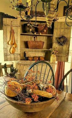 How serene. This is what I love most about primitive decor. Warm and cozy.