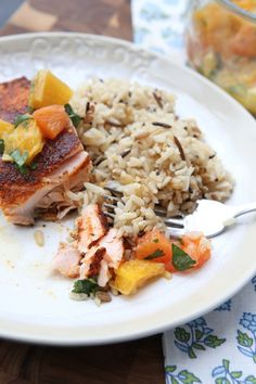 Pan Seared Blackened Salmon with Citrus Salsa || Aggie's Kitchen