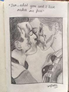 gallavich kiss fanart