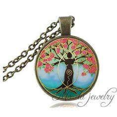 Collar Mandalas, árbol de la vida