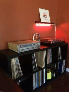 IKEA Kallax Shelf used for vinyl record collection.