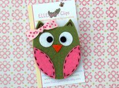 Owl hair or bag clip