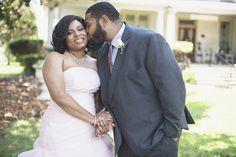 Magnolia House Inn Wedding | Hampton, Virginia Wedding | Bride & groom portraits | Blush pink wedding gown