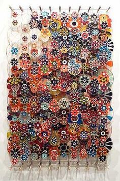 After Art Basel...I am in LOVE with this artist and his intricate, complex, beautiful work!  Jacob Hashimoto